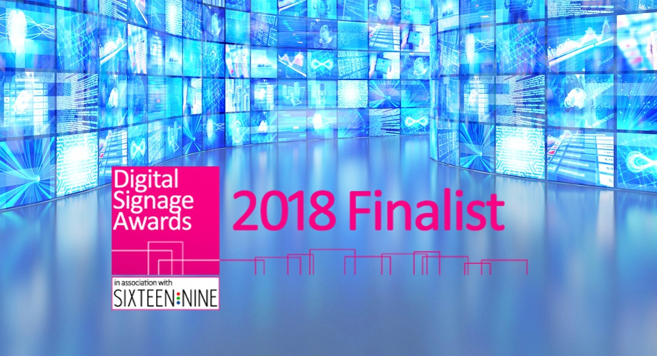 We've been shortlisted in the Digital Signage Awards 2018