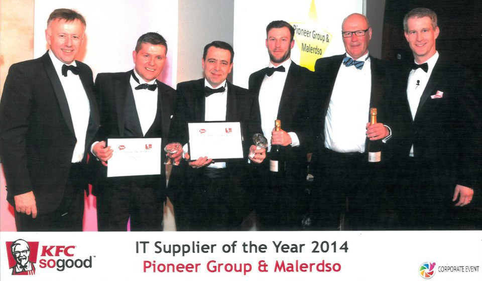 Honoured as 'IT Supplier of the Year 2014' at KFC UK event