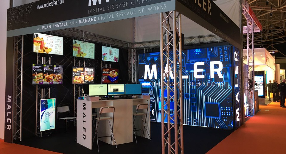 All ready for MALER Digital Signage at ISE 2017