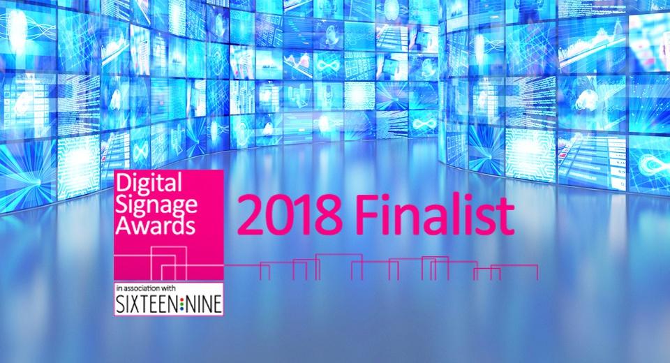 We've been shortlisted in the Digital Signage Awards 2018